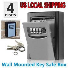 Wall-Mounted Key Storage Box Combination Key Storage Lock Box Aluminum Key Safe