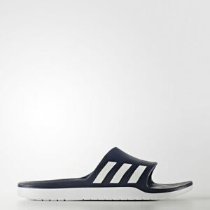 81ab45fdc9b Image is loading Adidas-AQUALETTE-CLOUDFOAM-SLIDES-flip-flops-beach-Navy-