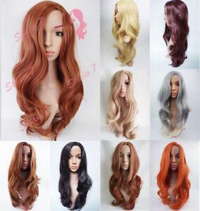 Studio7-UK-Long-Wavy-Auburn-Brown-Black-Ash-Blonde-Synthetic-Wig-Various-Colours