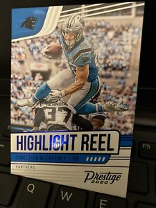 2020-Panini-Prestige-Christian-McCaffrey-SP-Blue-Foil-Highlight-Reel-Panthers