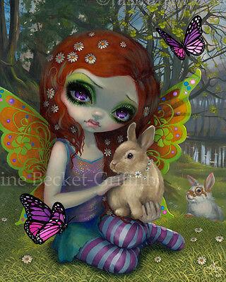 Jasmine Becket-Griffith art BIG print season fairy butterfly bunny SIGNED Spring