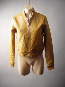 Women-Camel-Quilted-Faux-Leather-Moto-Biker-Baseball-Bomber-204-mv-Jacket-S-M-L