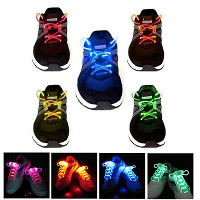 Light-Up LED Waterproof Shoelaces - 3 Modes (On, Strobe & Flashing)