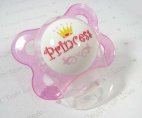 Hot Pink Transparent 5 MAM Ring Button Style Dummy Pacifier Clip Adapter