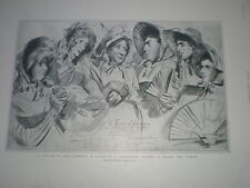 A Dream of Fair Women burlesque aboard HMS Ophir 1901 print