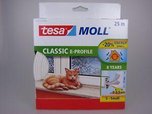 tesa-Moll-P-Profil-E-Profil-D-Profil-weiss-braun-Fensterdichtung-Tuerdichtung