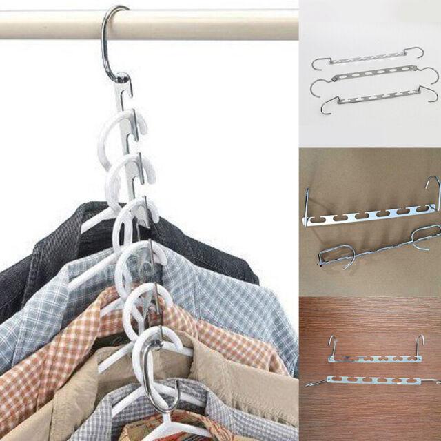 4 Space Saving Hangers Wonder Metal Clothes Magic Closet Organizer Home Tools