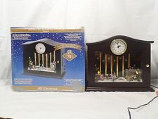 Mr. Christmas Animated Musical Chimes Clock Ice Skaters 2010 70 Songs