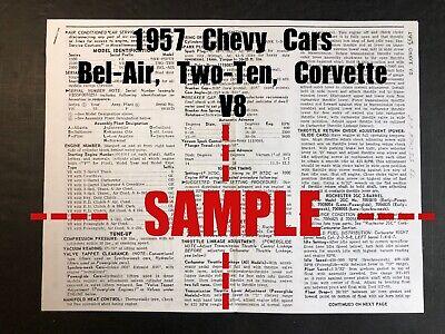 1957 CHEVROLET *V8* - Bel-Air, Corvette, Etc. (Wiring ...