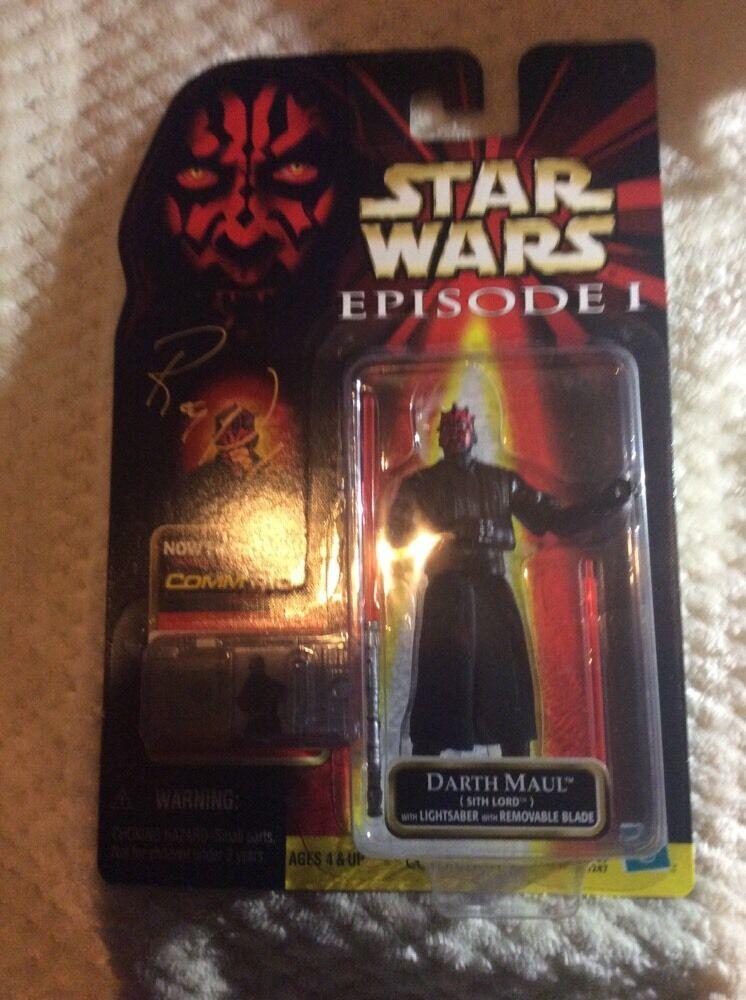 STAR Wars autografato Darth Maul figure Ray Park EPISODIO 1 COMM Tech