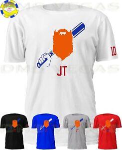 on sale 89bd5 57177 Details about Los Angeles Dodgers Justin Turner JT Bat & Beard Jersey Tee  Shirt Men Size S-5XL