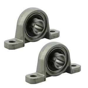 2x-KP001-Lagerbock-12-mm-Welle-Stehlager-KP-001-Gehaeuselager-Miniatur-Set