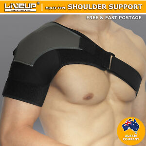 Adjustable Shoulder Support Brace Compression Strap Patch Injurie Protect Sports
