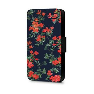 Floral-Phone-Case-Print-Colourful-Flowers-Faux-Leather-Flip-Phone-Case-Cover