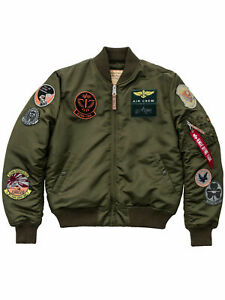 Alpha-Industries-Jacke-MA1-Pilot-Dark-Green-143121-257-Bomberjacke-Patches-6119