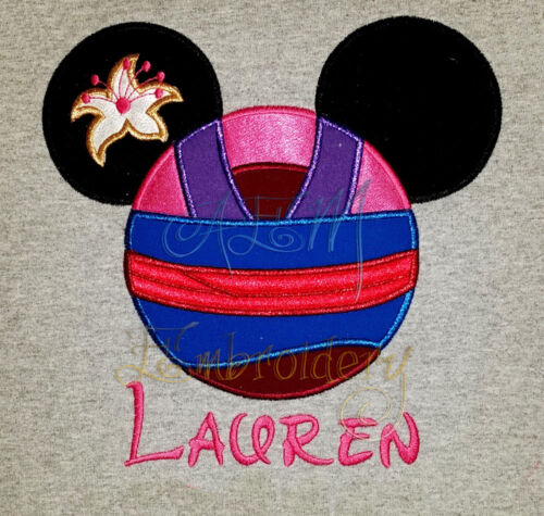 Personalized Mulan Minnie Mouse Shirt embroidered Version 1