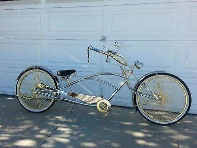 Bicycle Twisted Light Bracket Chrome Lowrider Beach Cruiser Bikes 187909