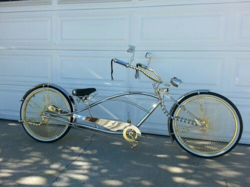"""1//2/"""" Bicycle Twisted Caged Pedals Cruiser Lowrider Bikes Gold"""