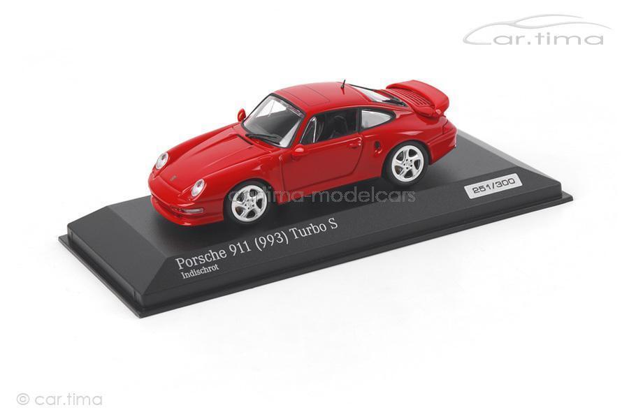 Porsche 911 (993) Turbo S-rojo teja - 1 of 300-Minichamps-car. tima exclus