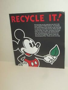 Walt Disney World Resort Mickey Mouse Recycle It Packet Bag For