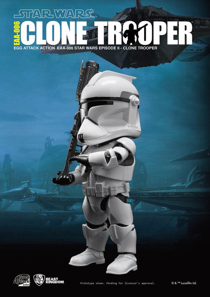 Huevo De Ataque Figura De Acción De Estrella Wars Clone Trooper (episodio Ii) 15 Cm