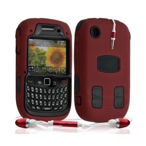 Housse-etui-coque-rigide-pour-BlackBerry-Curve-8520-couleur-rouge-Kit-Pieton