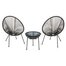 Garden String Bistro Set Chairs Table Furniture 3pc Outdoor Patio Dining Cover
