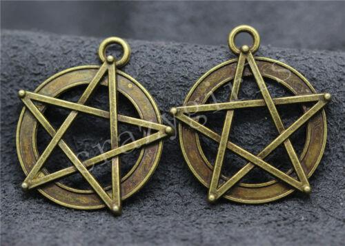 5//20//100pcs Tibetan Silver Beautiful Pentagram Jewelry Charms Pendant 30x27mm