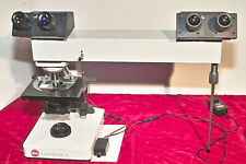 Leitz Teaching Microscope For Home School Biology Instruction With Photo Rig