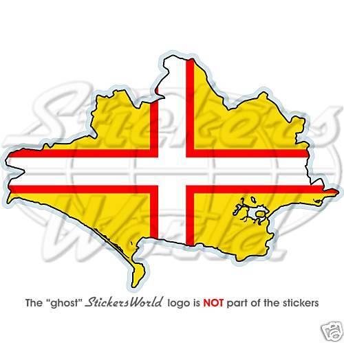 DORSET County Landkarte-Flagge ENGLAND Fahne 120mm Vinyl Sticker Aufkleber