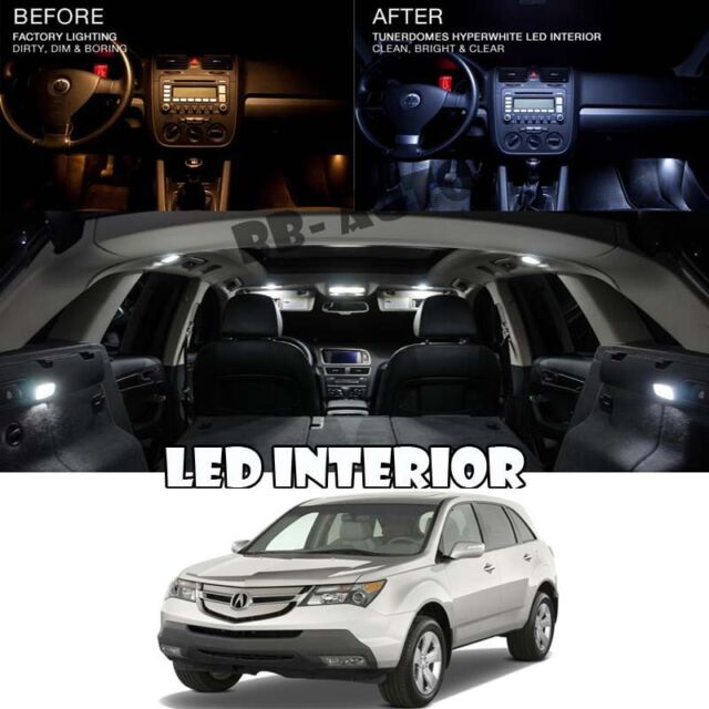 For 01-06 Acura MDX White LED Light Package Map Dome Trunk