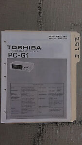 toshiba g1 manual