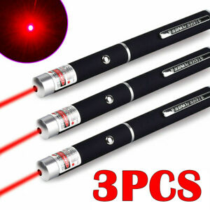 3PC 900 Miles Green /& Red /& Blue Purple Laser Pointer Pen AAA Super Bright Lazer