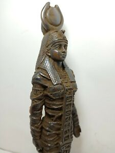 Rare Antique Ancient Egyptian Statue Déesse Isis Eye of Horus protéger 1930 BC