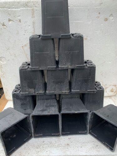 100 x 1 LITRI Nero Quadrato Plastica Pianta Pentole-USATO