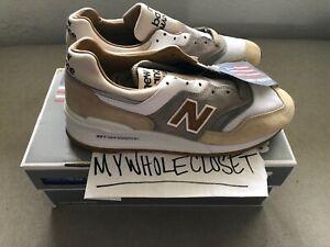 sports shoes b6a77 dce0c NEW BALANCE 997 J CREW CORTADO OFF WHITE/ GREY-BROWN SIZE ...