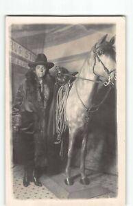 Wall-Drug-South-Dakota-Studio-Arcade-w-Prop-Horse-RPPC-Real-Photo-Postcard-P4