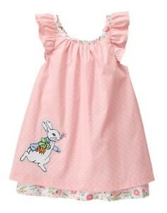 NWT Gymboree Hippos and Bows Dots Purple Dress 0 3 6 12 18mo Easter Girls