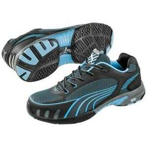 Puma-Safety-642825-Fuse-Motion-Women-039-s-Blue-Low-Steel-Toe-SD-Work-Oxford-Shoes