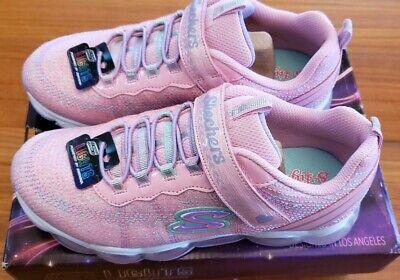 Lights By Skechers Girls Footwear Neon Colors Adjustable Straps Sz 9