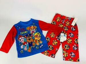 Nickelodeon Paw Patrol 4 PC Long Sleeve Tight Fit Cotton Pajama Set Boy Size 6