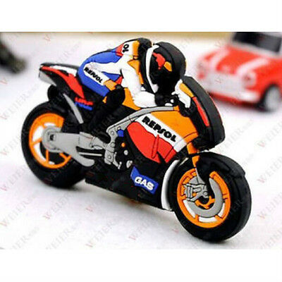 8GB Fashion Cartoon Motorcycle race model USB 2.0 Memory Stick Flash pen Drive