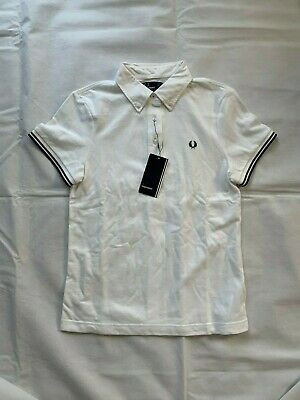 BNWT WHITE 10 FRED PERRY WOMENS CLASSIC OXFORD POLO SHIRT COLOUR SIZE