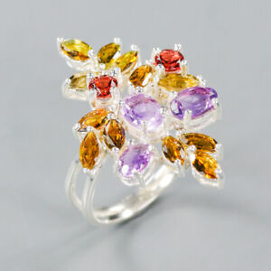 Amethyst Ring 925 Sterling Silver Size 8 /RT20-0096