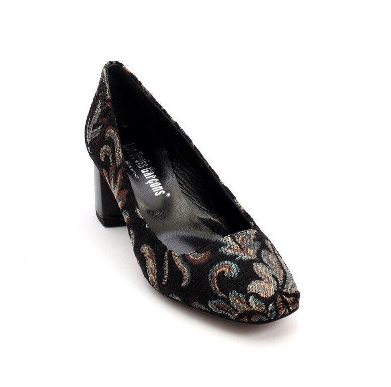 Les Trois Garcons 6027b Multi-color Tapestry   Leather Pumps shoes 36   US 6