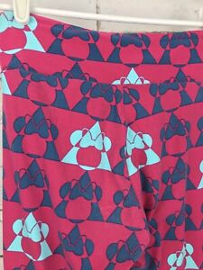 LuLaRoe-LLR-Disney-Minnie-Mouse-Triangle-Leggings-Pink-One-Size-UNEVEN-LEGS