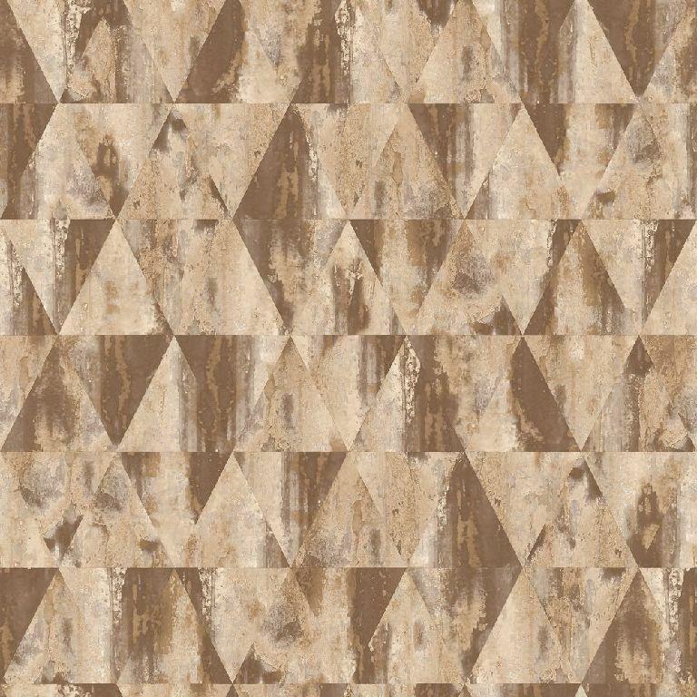 Essener Tapete Grunge G45335 Rombi Triangolo Beige brown