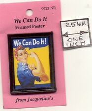 """Poster - Framed """"We Can Do It"""" World War 9273NR dollhouse miniature 1/12 scale"""