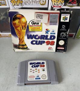 World CUP 98 FRANCIA 98 N64 Nintendo 64 Cartuccia E Box