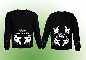 Couple Matching Crewneck Sweatshirt Property Of My Girlfriend